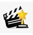 Clapboard cinema and movie design vector image