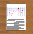 red line chart vector image