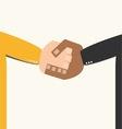 businessmans hand shaking vector image