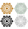 Thai pattern floral 03 vector image vector image