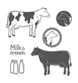 Cow emblems set vector image vector image