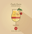 tequila sunrise cocktail drink recipe in trendy vector image