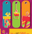 set of price tags with gift box vector image vector image