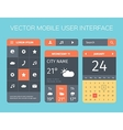 set of mobile interface vector image