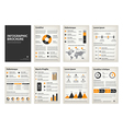 Vintage business A4 brochures with infographic vector image