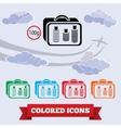 Baggage transportation airport icon Liquid in vector image