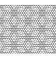 Hexagon dots seamless pattern vector image vector image