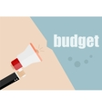 budget Megaphone Flat design business vector image