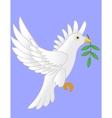 dove flying cartoon vector image