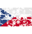 Flag of Czech Republic with old texture vector image