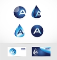 Letter A logo water drop vector image
