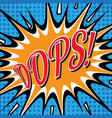 pop art comic bubbles design vector image