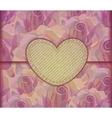 Romantic Love letter Valentine background EPS10 vector image