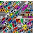 Traffic congestion on roads vector image