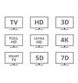 TV icon set vector image