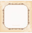 Vintage imperial frame grunge background vector image