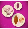 Vintage Leaves greeting card vector image
