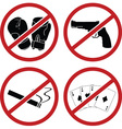 warning signs for public place vector image