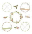 Wedding floral set vector image