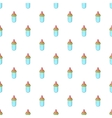 Bottle with nipple pattern cartoon style vector image