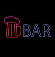 Neon beer bar vector image