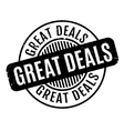 Great Deals rubber stamp vector image