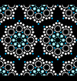 Seamless pattern aboriginal dot painting vector image