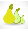 Pear Icon On White Background Isolated vector image vector image