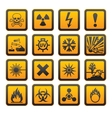 hazard symbols orange vectors sign vector image