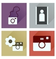 Concept of flat icons with long shadow Cameras vector image