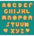 Cookies Alphabet Vintage style vector image