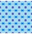 Flower blue seamless pattern vector image vector image
