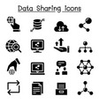 data sharing icon set vector image