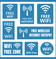 free wifi signs vector image
