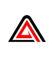 initial a accelerate triangle symbol graphic vector image