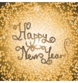 New Year lettering of Christmas tinsel font vector image