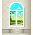 Window background art vector image