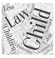 child protection laws Word Cloud Concept vector image