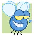 Blue Fly Cartoon Character vector image