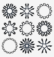 Simple set of design elements vector image vector image