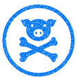 pig death rounded grainy icon vector image