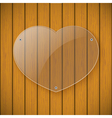 Glass plate on the background of wooden wall vector image