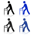 Walking aid vector image