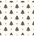 seamless retro pattern christmas trees vector image