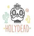 Holy dead sugar skull vector image