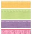 Set of four horizontal textile fabric textures vector image