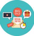 E-mail marketing concept Flat design Icon in vector image