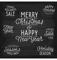 slogans chalkboard christmas sale vector image