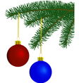 fur-tree with toys vector image vector image