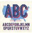 american font 4th july vector image